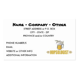 Cerveza divertida tarjeta de negocio