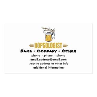 Cerveza divertida plantilla de tarjeta personal