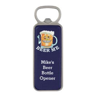 Cerveza divertida yo de encargo abrebotellas magnético