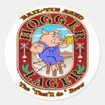 Cerveza dorada de Hogger Etiquetas Redondas