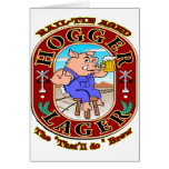 Cerveza dorada de Hogger Tarjeta