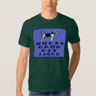 Cerveza dorada del azul del día del grog del perro camisas