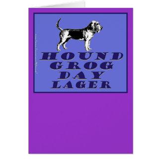 Cerveza dorada del azul del día del grog del perro tarjeta de felicitación