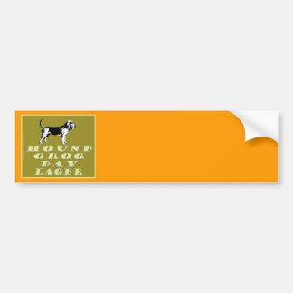 Cerveza dorada del oro del día del grog del perro etiqueta de parachoque