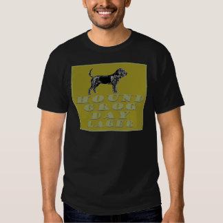 Cerveza dorada del oro del día del grog del perro playeras