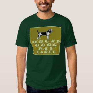 Cerveza dorada del oro del día del grog del perro remera