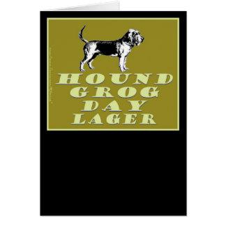 Cerveza dorada del oro del día del grog del perro tarjeta pequeña