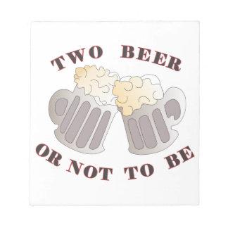 cerveza dos bloc de notas