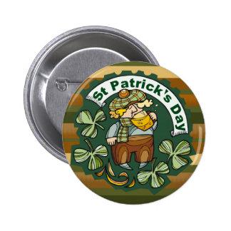 Cerveza e irlandés pin redondo de 2 pulgadas