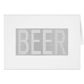 Cerveza en el binario - ASCII Tarjeta De Felicitación