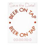 Cerveza en invitaciones del golpecito