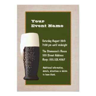 Cerveza en la invitación del proyecto