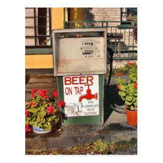 Cerveza en la postal del golpecito