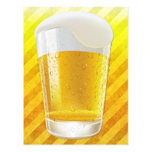 Cerveza en vidrio postal