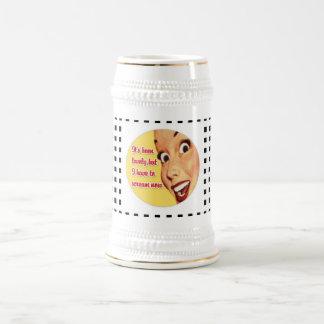 Cerveza enrrollada Stein del GRITO retro divertido Jarra De Cerveza