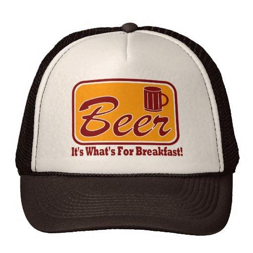 ¡Cerveza - es cuál está para el desayuno!  Gorra d