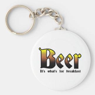 Cerveza - es cuál está para el desayuno llavero redondo tipo pin