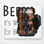Cerveza - es cuál está para el desayuno Mousepad 2 Alfombrilla De Ratones