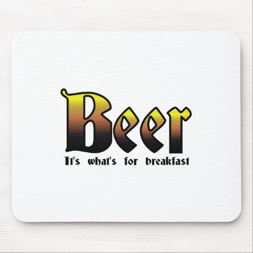 Cerveza - es cuál está para el desayuno alfombrilla de raton