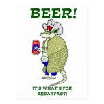 Cerveza es cuál está para el desayuno tarjetas postales