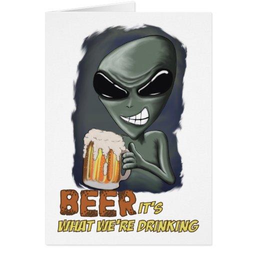 Cerveza es lo que estamos bebiendo la tarjeta