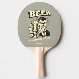 Cerveza: Es vacaciones adentro puede Pala De Ping Pong