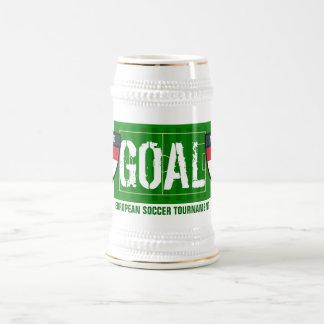 Cerveza europea holandesa del fútbol de Nederland  Tazas