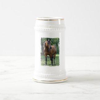 Cerveza excelente Stein del caballo de la bahía Tazas De Café