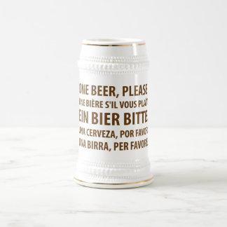 Cerveza extranjera taza