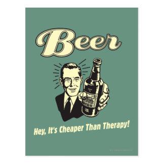 Cerveza: Ey es más barata que terapia Tarjeta Postal
