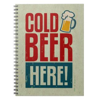 Cerveza fría libro de apuntes con espiral