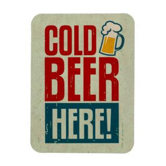 Cerveza fría imán de vinilo