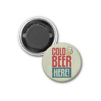 Cerveza fría imán redondo 3 cm