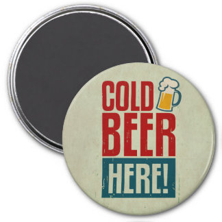 Cerveza fría imán redondo 7 cm