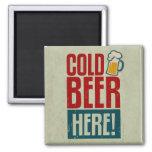 Cerveza fría imanes