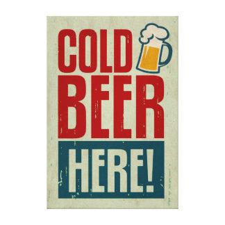 Cerveza fría impresiones en lienzo estiradas