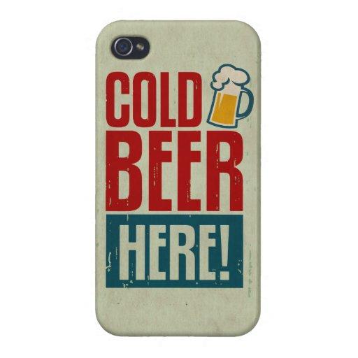 Cerveza fría iPhone 4 carcasa