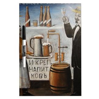 Cerveza fría (muestra) por Niko Pirosmani Pizarras Blancas