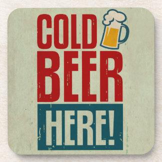 Cerveza fría posavasos
