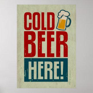 Cerveza fría póster
