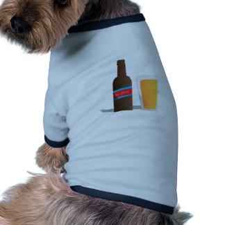 Cerveza fría camiseta con mangas para perro