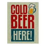 Cerveza fría tarjetas postales
