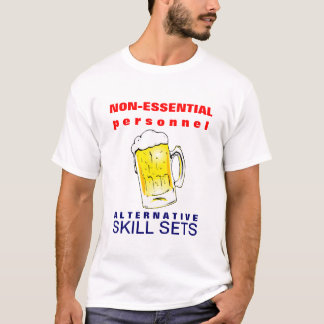 Cerveza Furloughed que bebe la camiseta divertida
