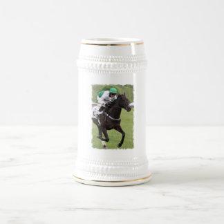 Cerveza galopante Stein del caballo de raza Jarra De Cerveza