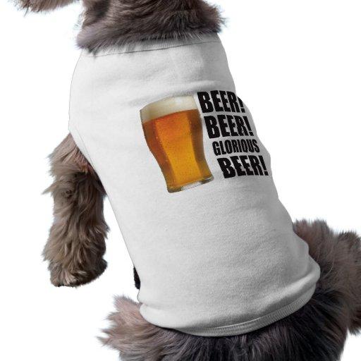 Cerveza gloriosa playera sin mangas para perro