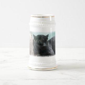 Cerveza grande Stein de la pantera negra Taza