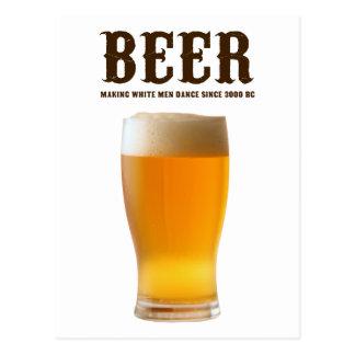 Cerveza Haciendo hombres blancos danza desde 3000 Tarjeta Postal