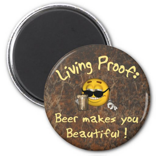 Cerveza hermosa imán