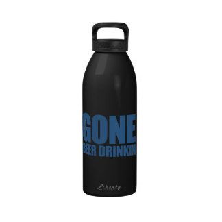 CERVEZA IDA QUE BEBE Meme - azul del zafiro Botellas De Agua Reutilizables