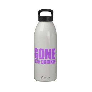 CERVEZA IDA QUE BEBE Meme - púrpura de la lavanda Botella De Agua